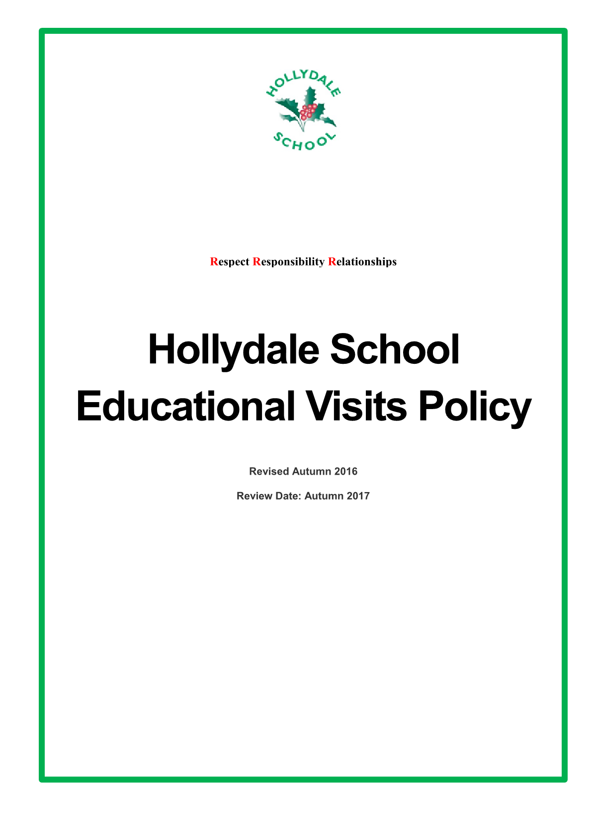 Educational Visits Policy