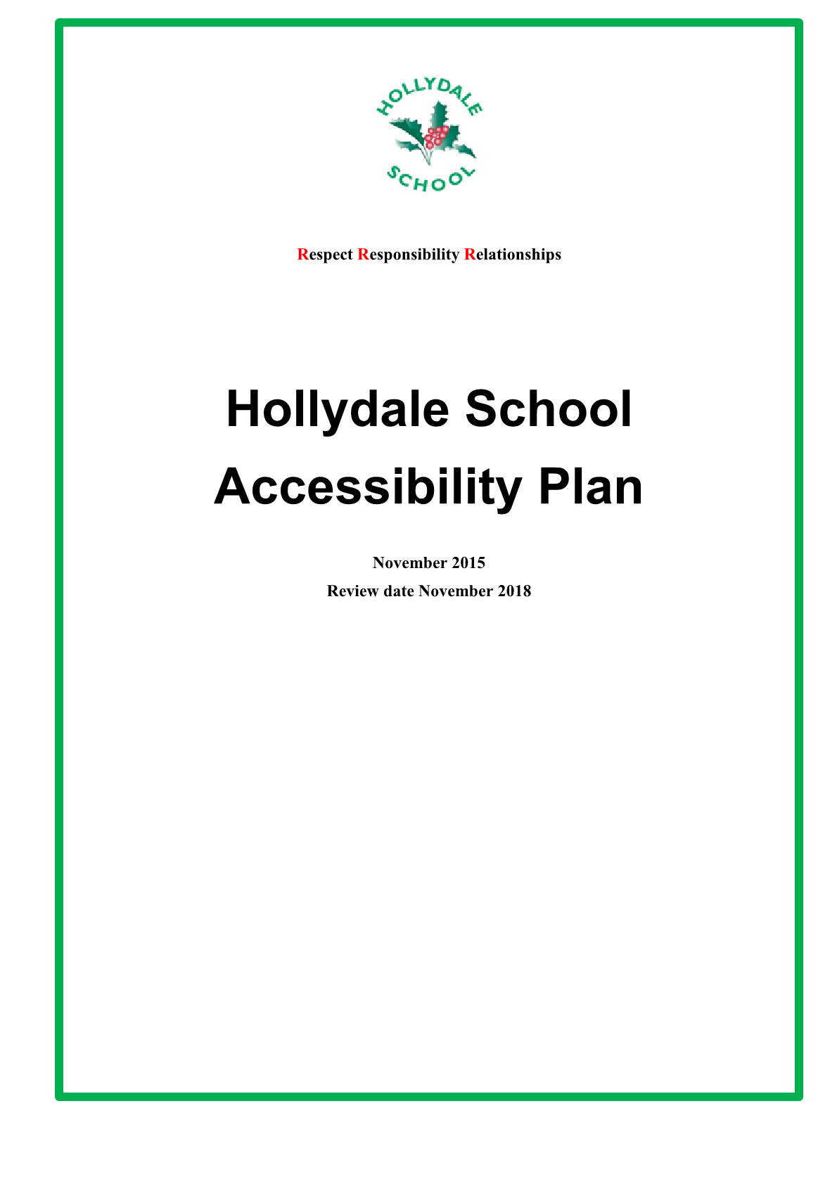 School Accessibility Policy