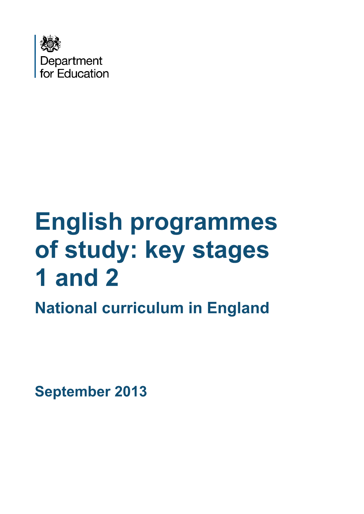 Primary National Curriculum - Languages