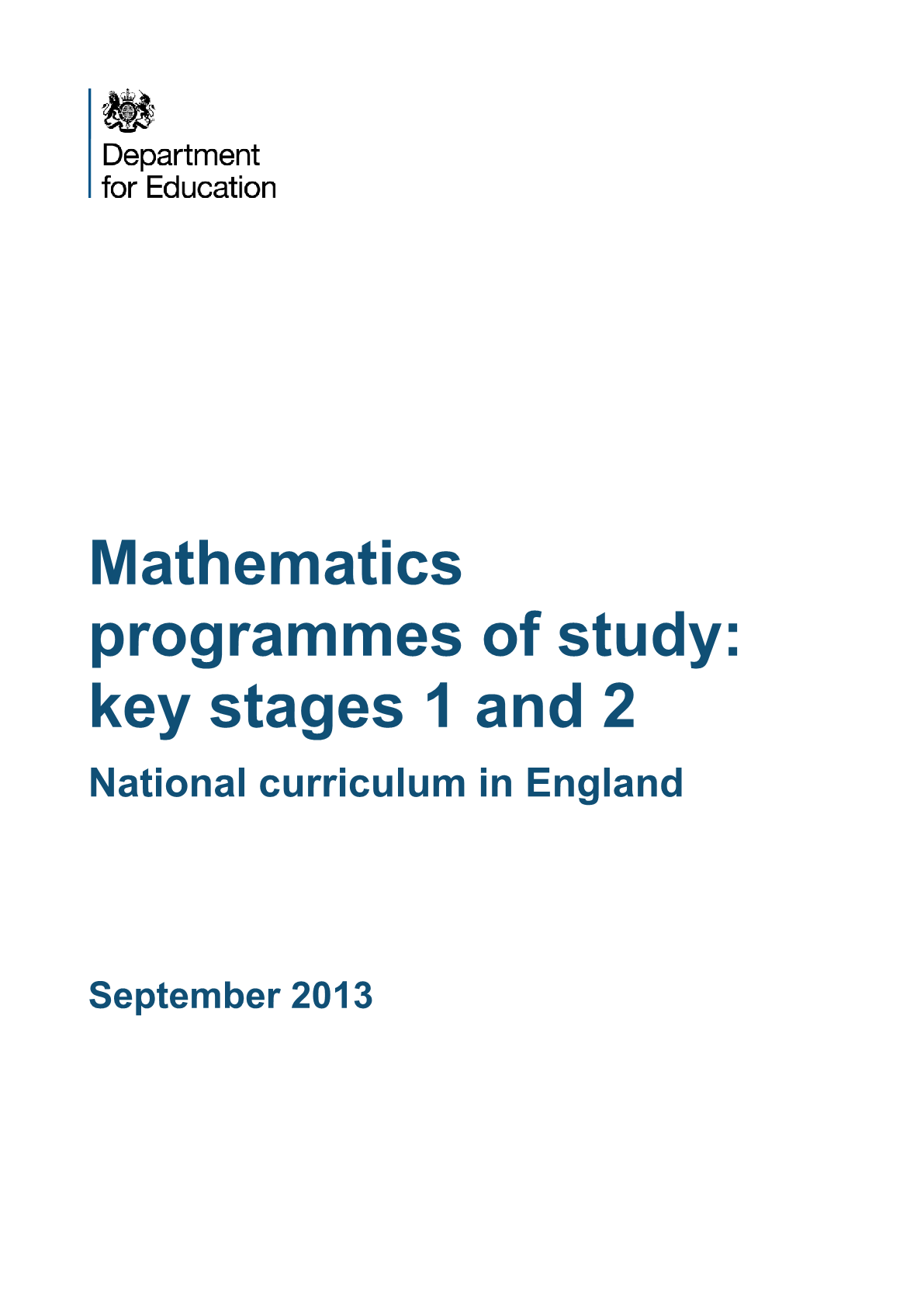 Primary National Curriculum - Maths
