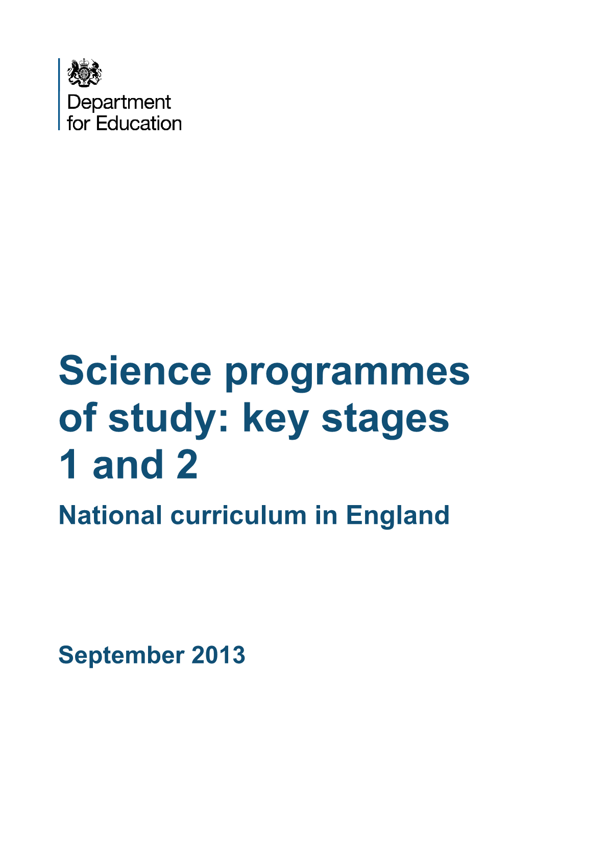 Primary National Curriculum - Science