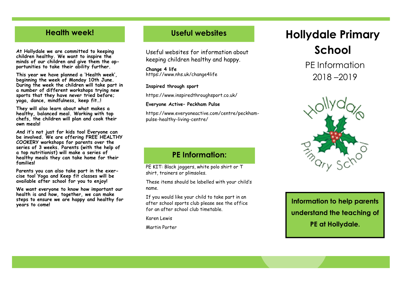PE Information Booklet