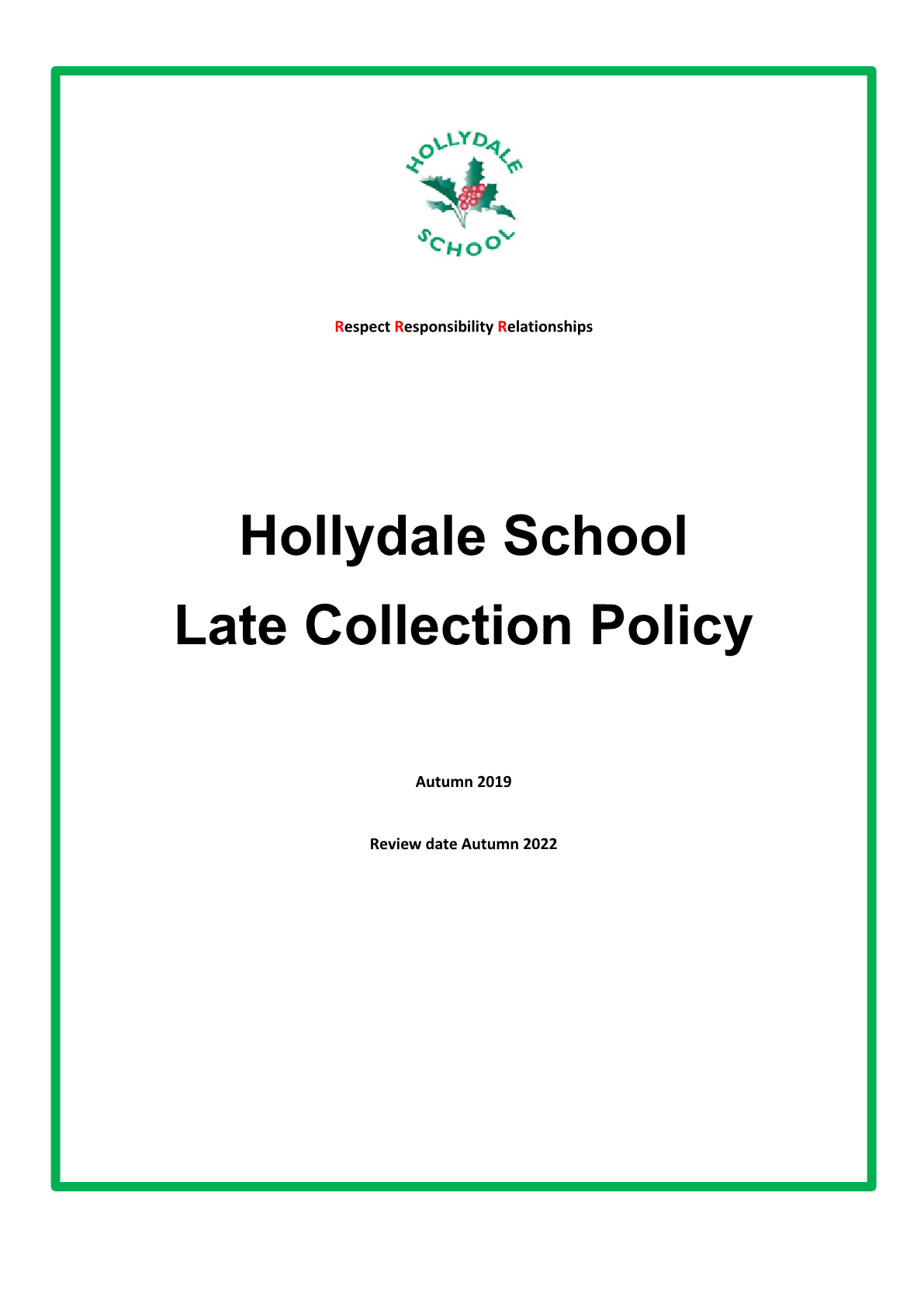 Late Collection Policy