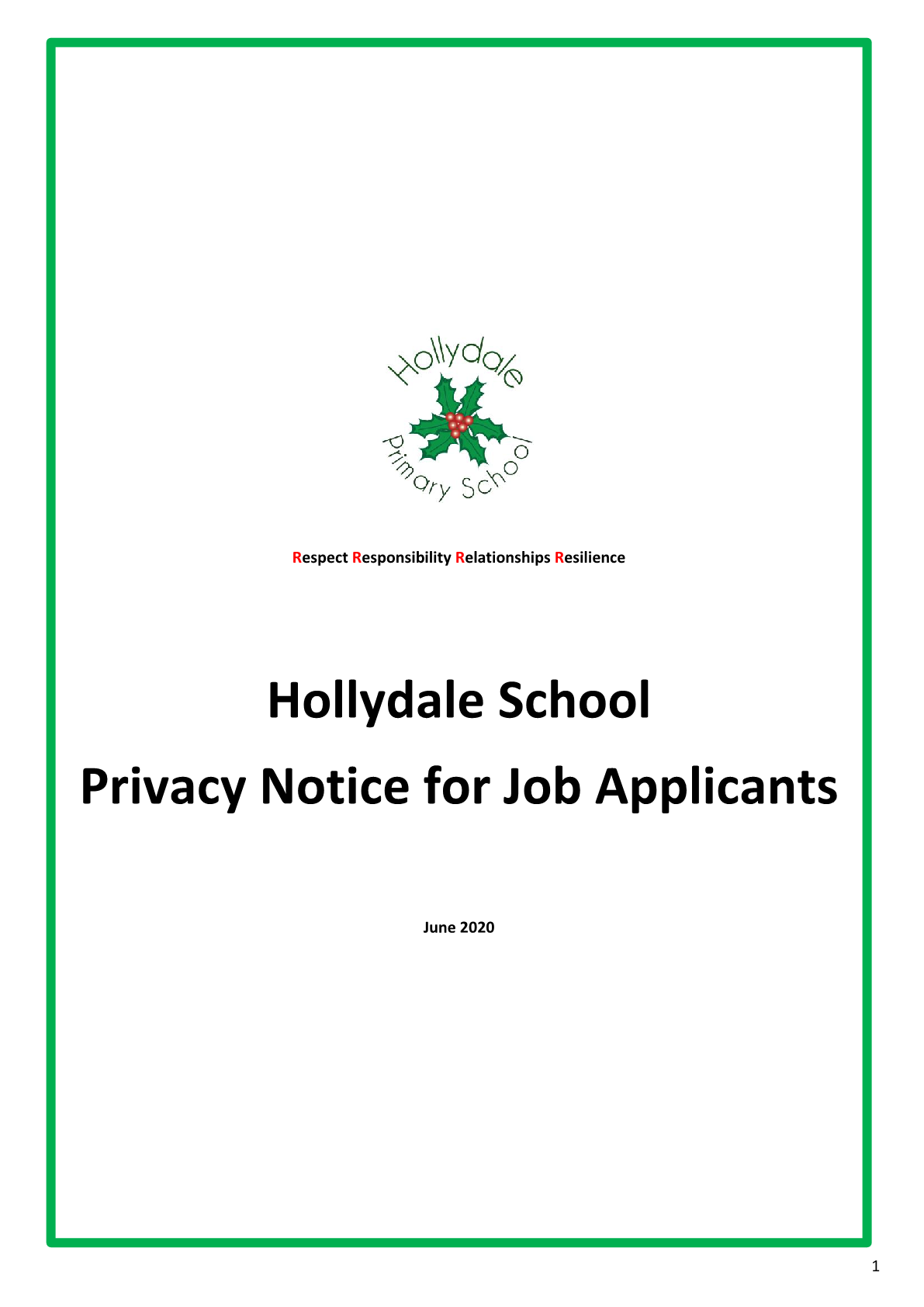 Privacy Notice for Job Applicants