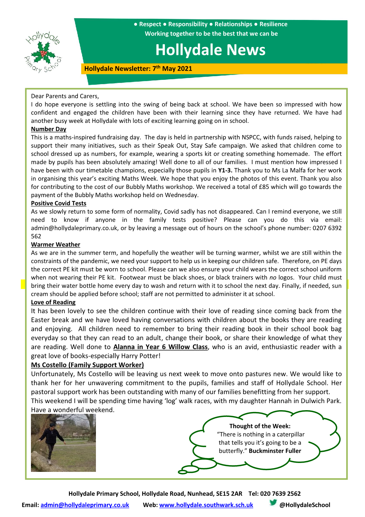Newsletter 7th May 2021